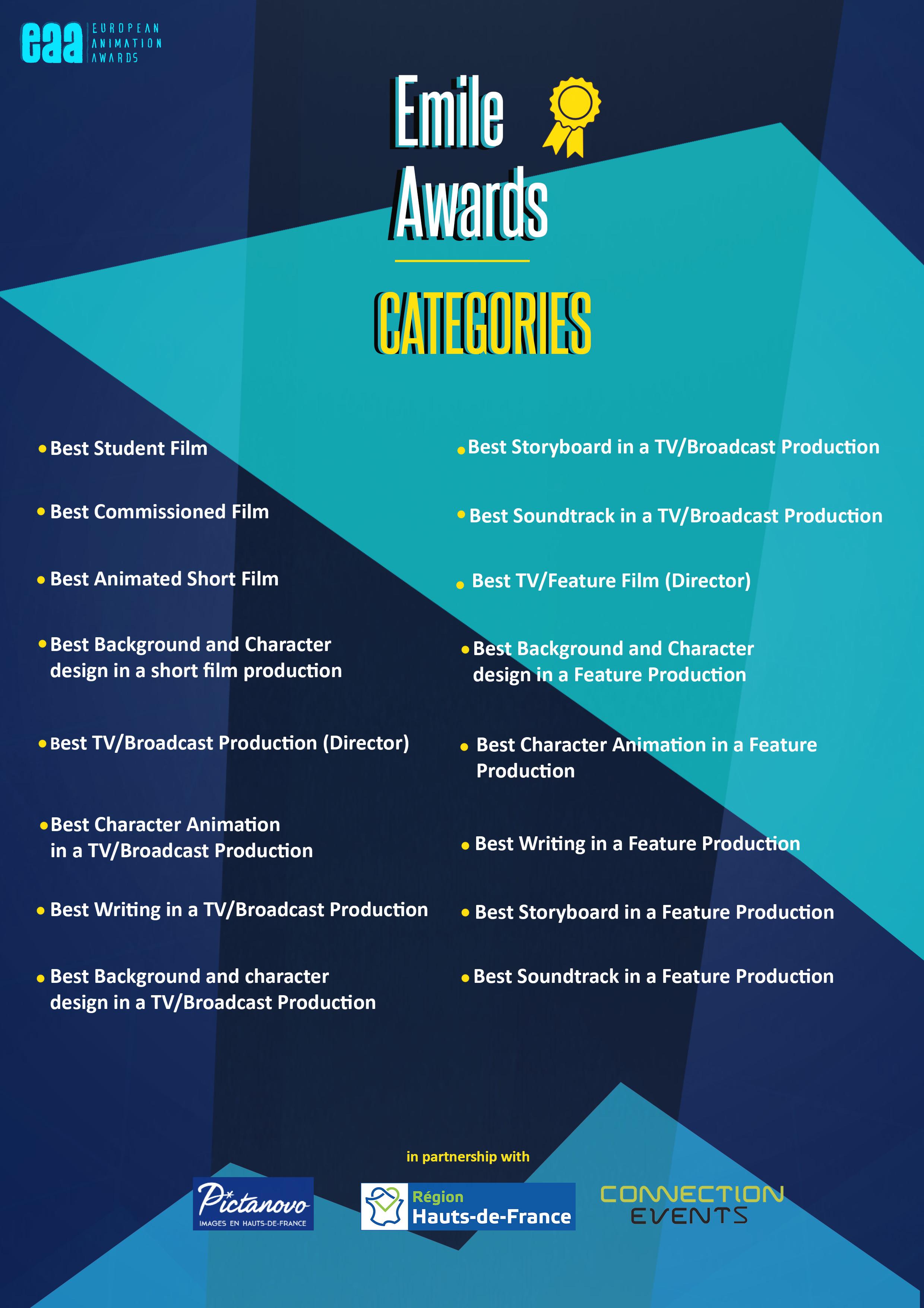 Emile Awards Categories
